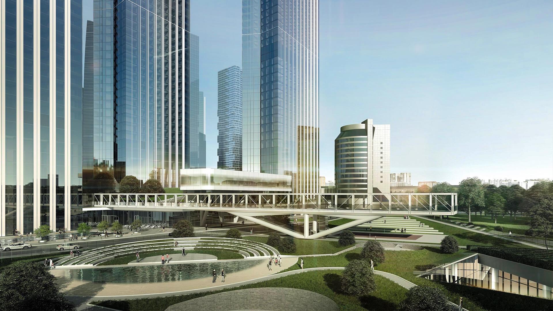 Зеленый парк жк Capital Towers