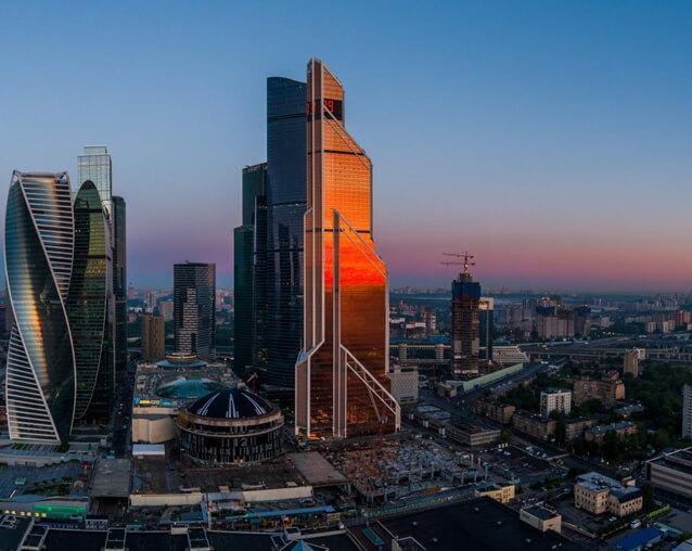 Вид на Москва-Сити и Пресненский район