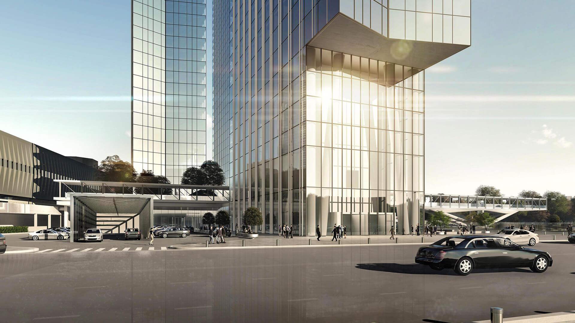 Подземный паркинг Capital Towers