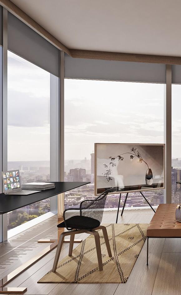 Панорамное остекление жилого комплекса Capital Towers